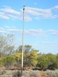 Disused telegraph pole at the back of the telegraph station.